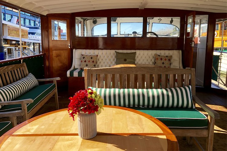 Up to 20 persons can enjoy a ride on this Motor yacht boat