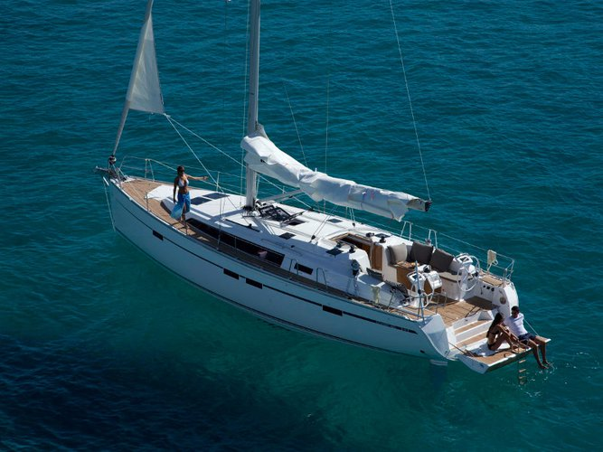 Sail the beautiful waters of  on this cozy Bavaria Yachtbau Bavaria Cruiser 46