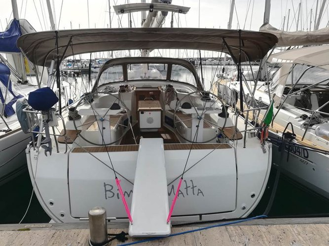 All you need to do is relax and have fun aboard the Bavaria Yachtbau Bavaria 45 Cruiser