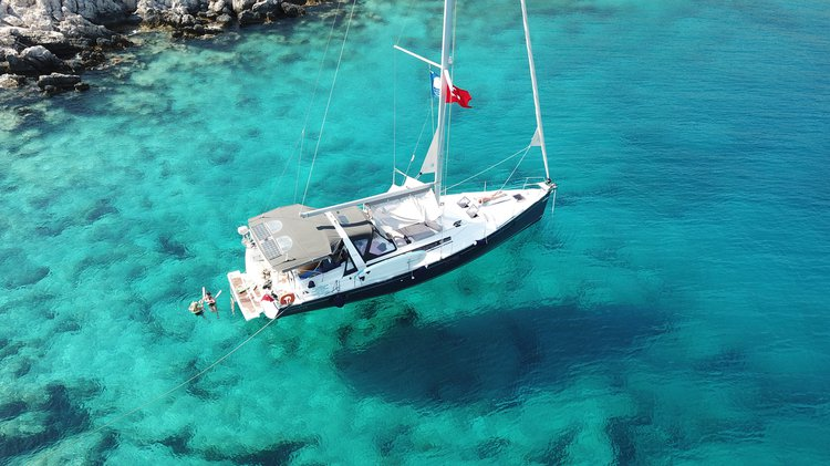 ALL INCLUSIVE SAILING YACHT CHARTER WITH SKIPPER AND CHEF @ TURKEY'S TURQUOISE COAST - KAS / ANTALYA