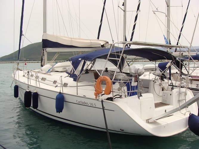 Sail aboard this comfortable Beneteau  50.5  and experience the adventures of Greek Waters!
