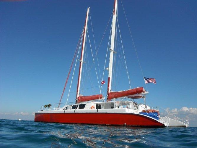 Catamaran boat for rent in Miami Beach