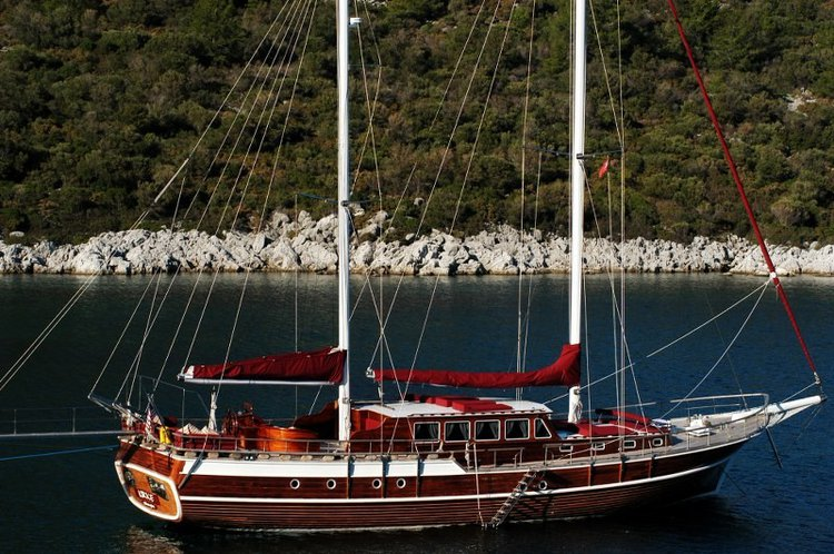 Climb aboard this sail boat rental in Bodrum for a great experience!