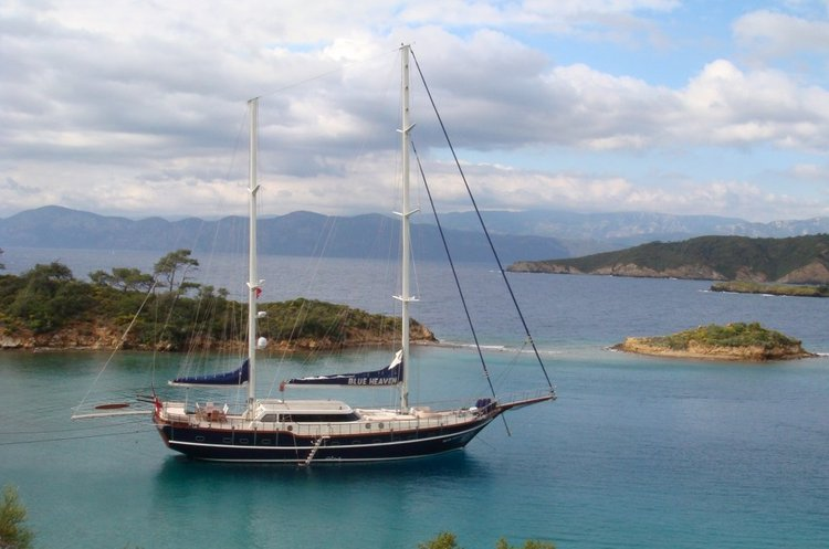 Go on a nautical adventure on this elegant sail boat charter in Bodrum