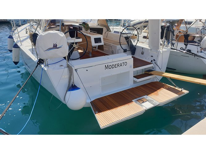 Sail the beautiful waters of Rogoznica on this cozy Dufour Yachts Dufour 430 Grand Large
