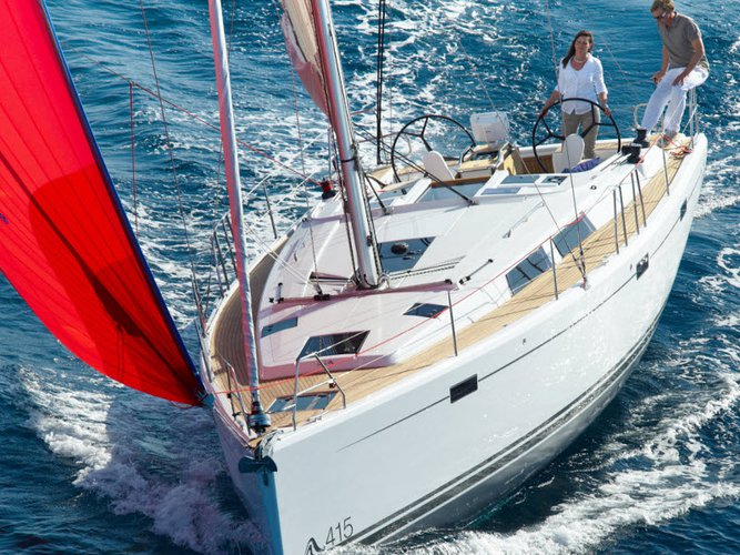 All you need to do is relax and have fun aboard the Hanse Yachts Hanse 415 BVI