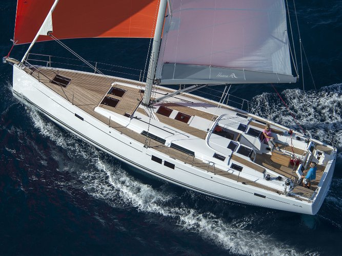 Enjoy luxury and comfort on this Hanse Yachts Hanse 505 BVI in