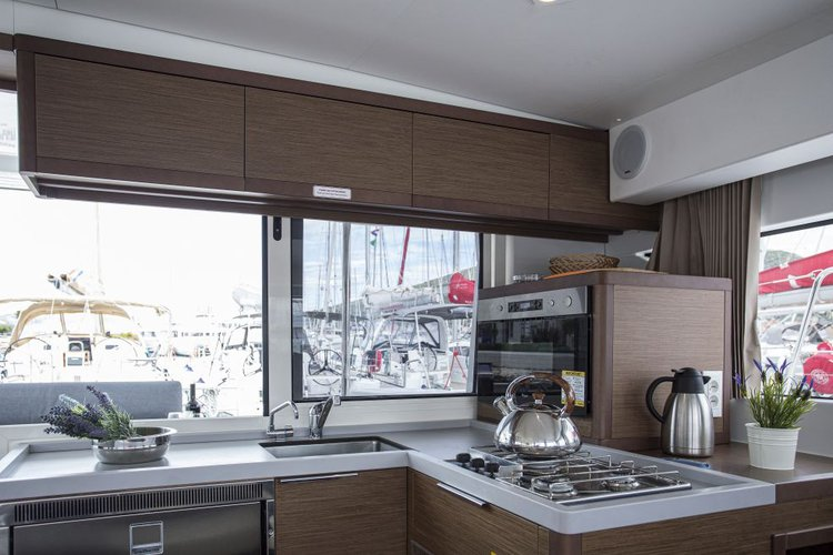 Catamaran boat rental in SCT Marina Trogir, Croatia