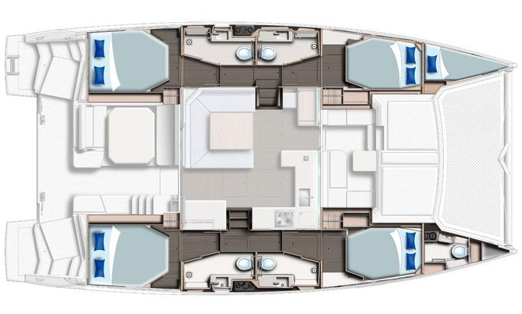 Discover Sea Cow's Bay surroundings on this Leopard 45 Leopard 45 boat