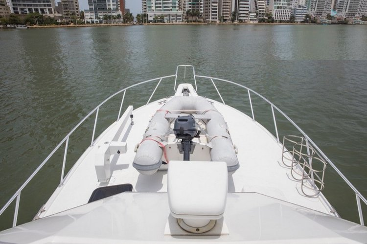 Discover Cartagena surroundings on this 42 Hatteras boat