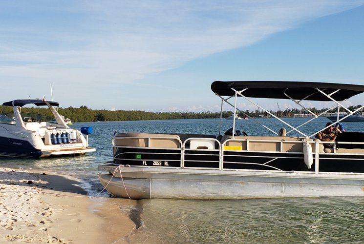 Pontoon boat rental in Haulover Marina, FL
