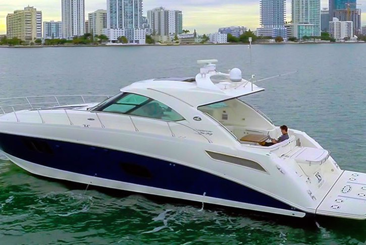 Enjoy Miami's beautiful waters from this 54' Cruiser!