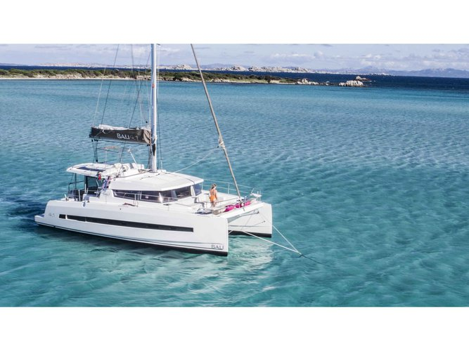 Rent this Bali Catamarans Bali 4.1 for a true nautical adventure