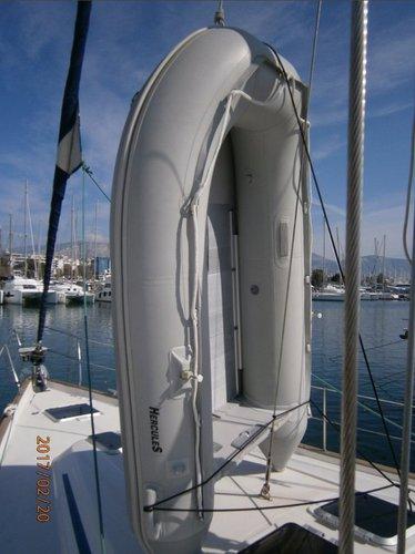 This 48.0' Bavaria Yachtbau cand take up to 10 passengers around Saronic Gulf