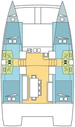 This 39.0' Catana cand take up to 8 passengers around