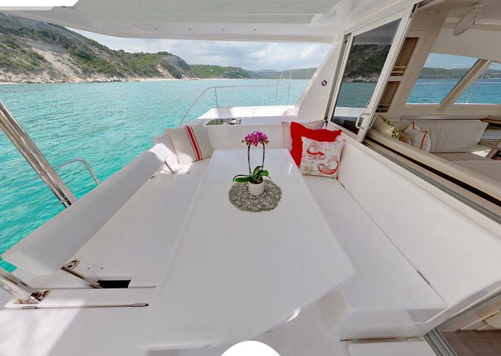 Have a wonderful time in St. Lucia aboard Custom 404!
