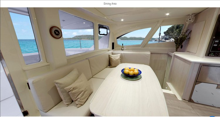 Discover Neiafu Vava'u, Tonga surroundings on this 444 Custom boat