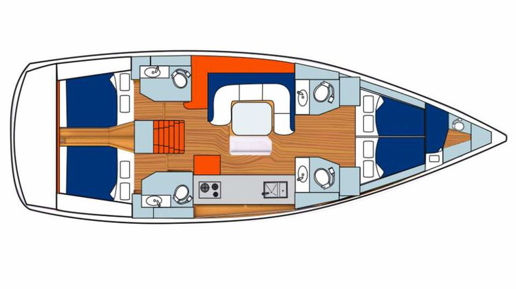 Monohull boat rental in Marina Fort Louis, St. Martin