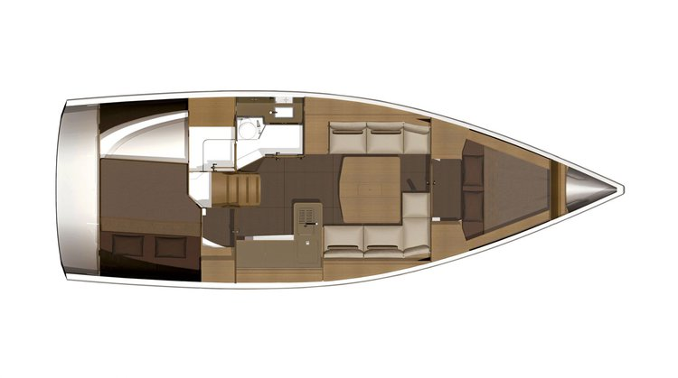 This 37.0' Dufour cand take up to 4 passengers around Annapolis