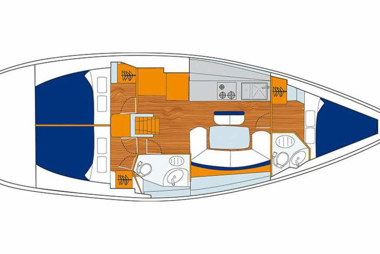 Discover Procida surroundings on this 43 Oceanis boat