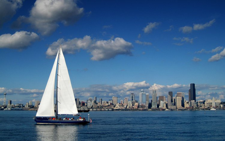 Discover Seattle in style cruising on this sail boat rental