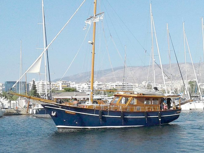 Enjoy luxury and comfort on this Athens motor boat charter
