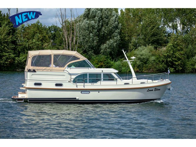 Enjoy luxury and comfort on this Kinrooi motor boat charter
