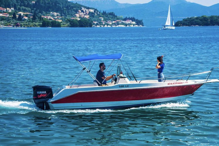 Discover Nydri - Lefkada surroundings on this 5.80 OLYMPIC boat