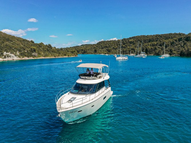 Enjoy luxury and comfort on this Punat, Krk motor boat charter