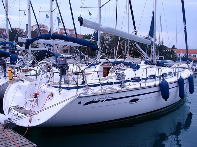 Sail the beautiful waters of Samos on this cozy Bavaria Yachtbau Bavaria 46 Cruiser
