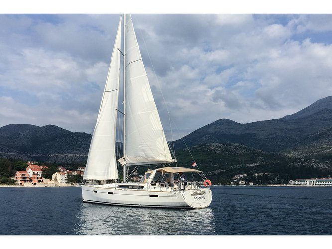Take this Beneteau Oceanis 45 (4 cabs) for a spin!