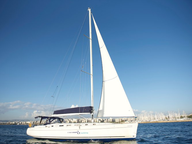Sail the beautiful waters of Kos on this cozy Beneteau Cyclades 50.5