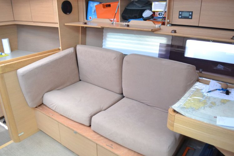 Discover  surroundings on this 500 GL Dufour boat