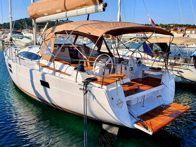 Sail the beautiful waters of Murter on this cozy Elan Elan 50 Impression