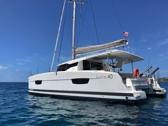 Get on the water and enjoy San Miguel de Abona in style on our Fountaine Pajot Lucia 40