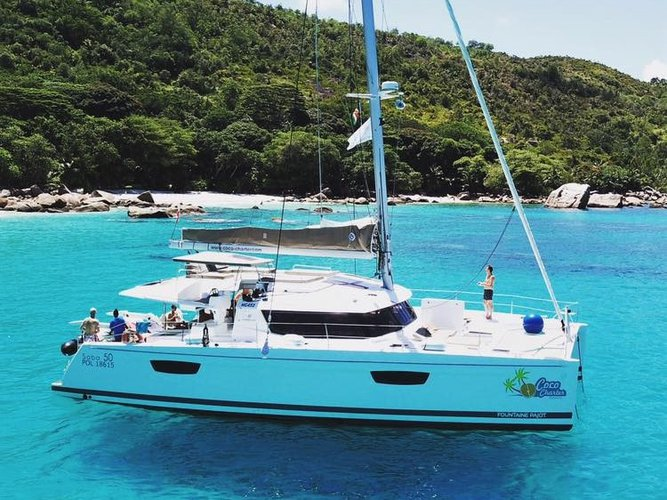Enjoy Mahe, Victoria, SC to the fullest on our comfortable Fountaine Pajot Saba 50 [7 CAB]