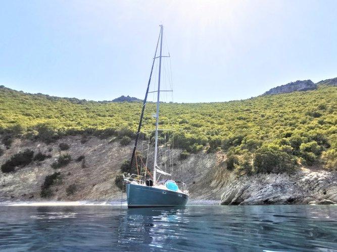 Sail Corfu, GR waters on a beautiful Jeanneau Sun Odyssey 54DS