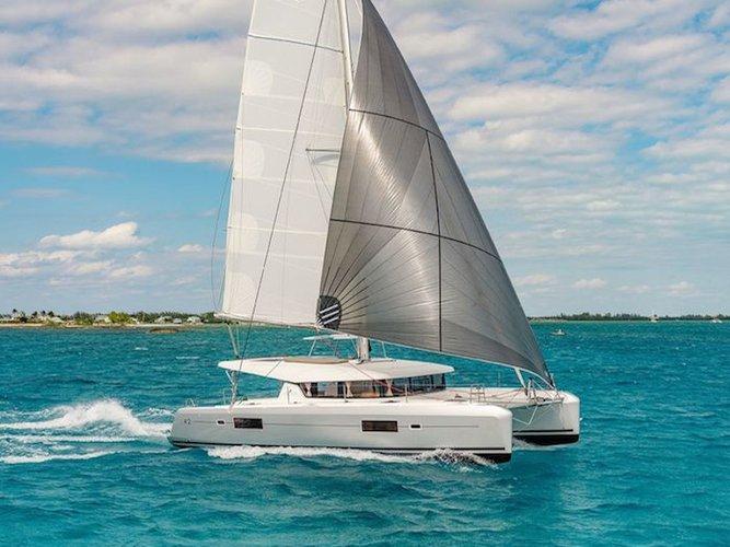 Enjoy luxury and comfort on this Lagoon Lagoon 42 in Vibo Marina