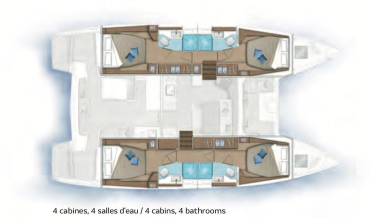 Boat for rent Lagoon 46.0 feet in Papeete, French Polynesia