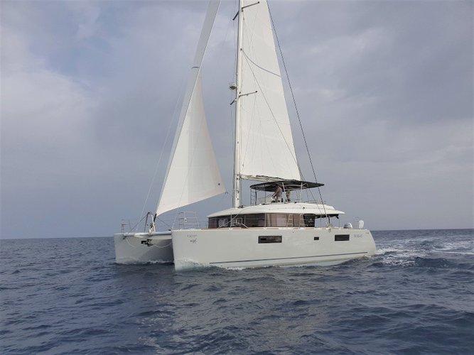 Sail Cagliari, IT waters on a beautiful Lagoon Lagoon 560