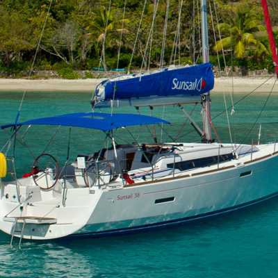 Hop aboard this amazing sail boat rental in Greece