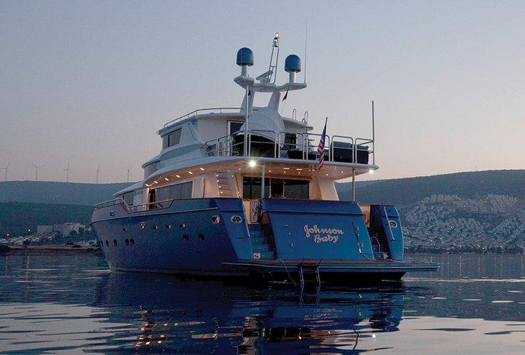 Johnson 87 Luxury yacht stern