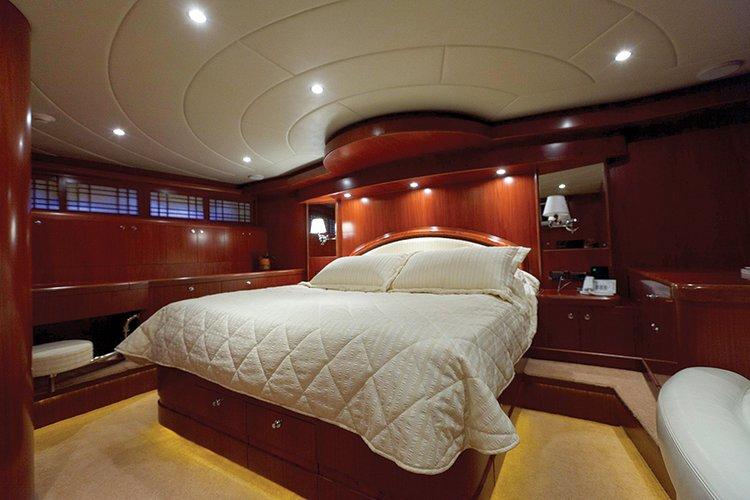Johnson 87 Luxury yacht VIP cabin