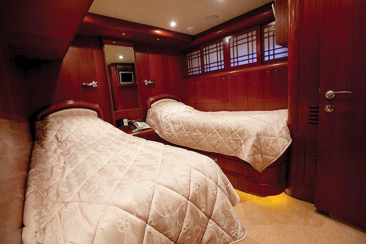 Johnson 87 Luxury yacht cabin