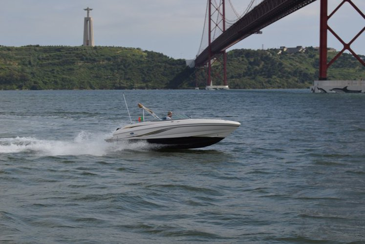 Boating is fun with a Motor boat in Lisbon