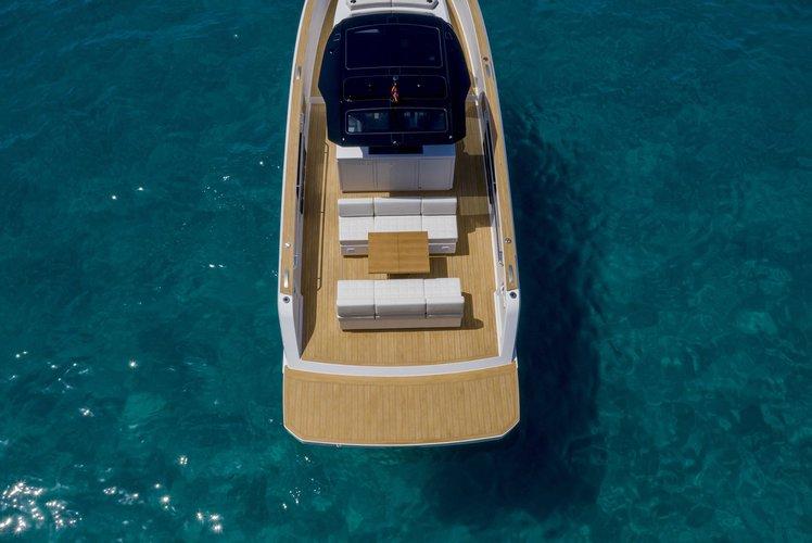 Motor yacht boat rental in Lavrion Marina, Greece