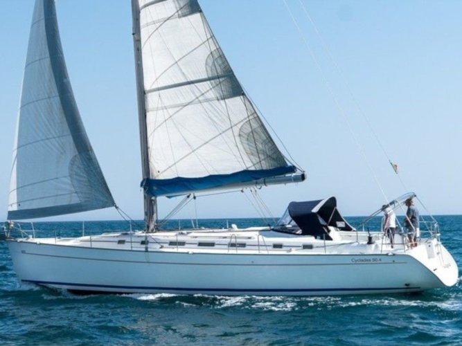 All you need to do is relax and have fun aboard the Beneteau Cyclades 50.4