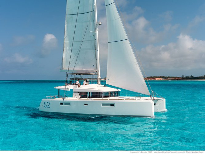 Sail the U.S. Virgin Island aboard this spacious Lagoon 52