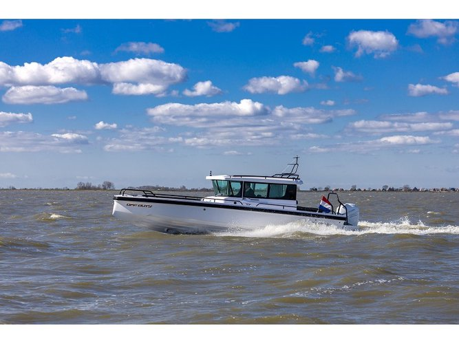 Discover Kortgene in style boating on this motor boat rental