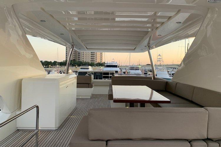 Motor yacht boat rental in West Palm Harbor Marina, FL